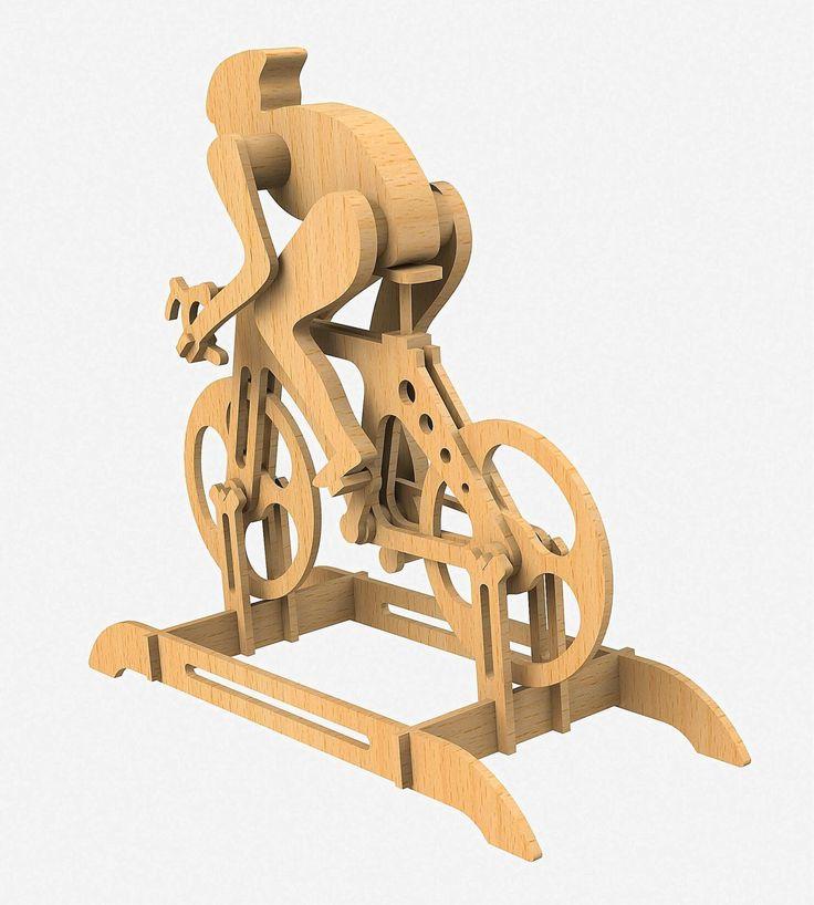 F1 Bicicleta Puzzle3D Quebra Cabeça 3D Projeto para Corte a Laser & Router Cnc