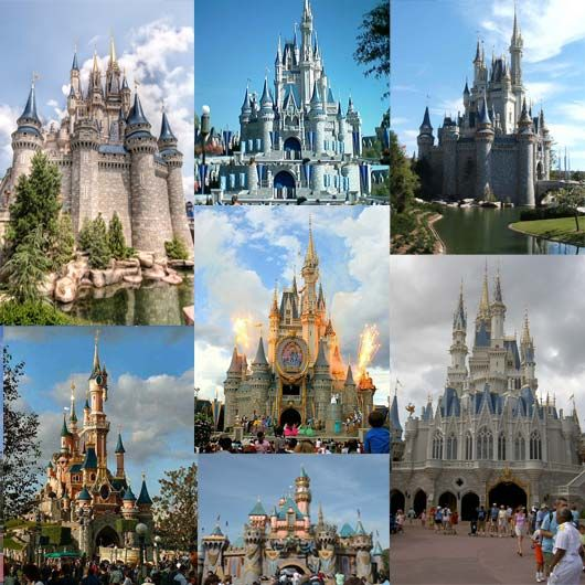 A collection of the Disney castles around the globe- beautiful