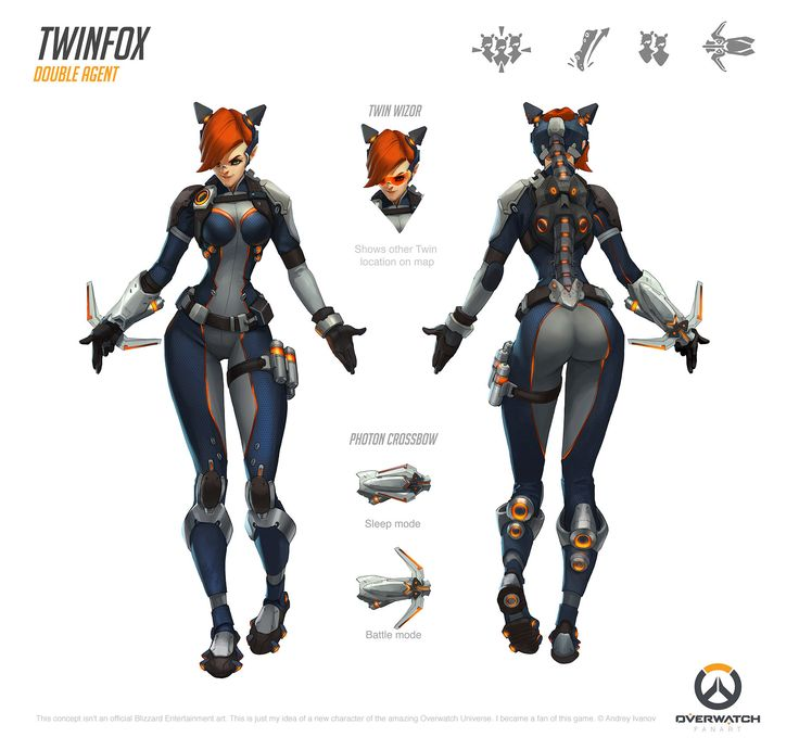 ArtStation - Twinfox [Fan Made Overwatch Character], Andrey Ivanov