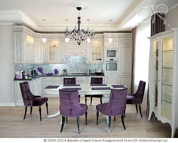 Фото интерьера столовой-кухни в квартире на Мытной http://www.ok-interiordesign.ru/angliyskiy-kvartal-na-mytnoy-dizayn-remont-kvartir.php