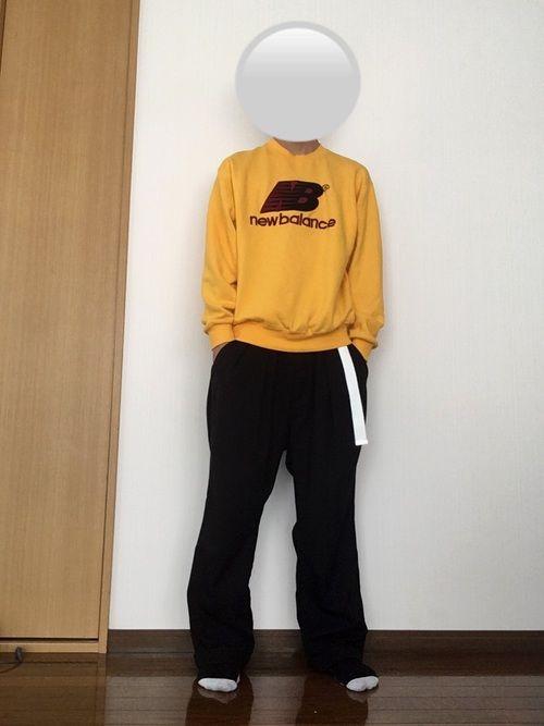 今日はワイドパンツに黄色のスウェットを合わしてみました。 黄色の服って着るの少し勇気いるよね笑笑 で