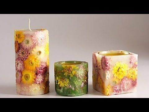Мастер-класс гелевая свеча своими руками - YouTube