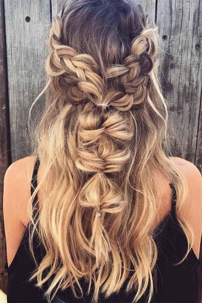 42 Super Cute Christmas Hairstyles For Long Hair Hair Styles Bohemian Hairstyles Hair