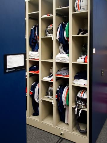 Auburn University Football Equipment Storage System