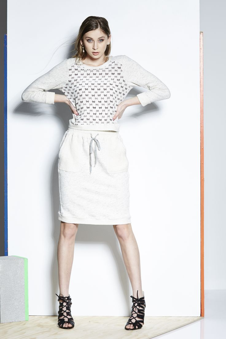 Catalyst 26321 - Bow Silk Sweater,  26320 - Gold Midi Skirt