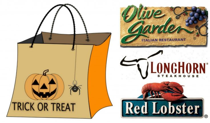 Trick-or-treating can work up an appetite. So, Olive Garden, Red Lobster and LongHorn Steakhouse are helping families feed their hungry little ones with de