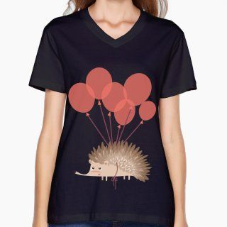 Anatomy Of A Hedgehog Medical research 2017 summer easy v neck Simple t-shirts For Woman Cotton Classic