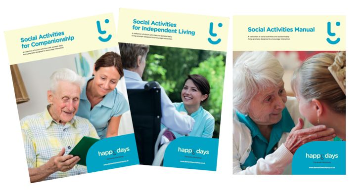 Enrich social care for people living with dementia - Ideal for Residential and Dementia Care Homes - Dementia Cafes and Home Care Services. Packed with visual format social activity ideas and engagement prompts - just enjoy the chat. Hear the stories - See the smiles. Includes licence and usb. More activities available at www.dementiaworkshop.co.uk