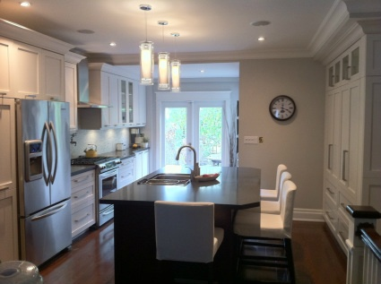 I designed this entire kitchen in Solidworks, specified all finishes, materials and hardware. and managed the manufacturing and installation process. See more examples of cabinetry design and finished work at www.shaype.ca