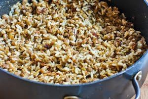 LEBANESE RECIPES: Mujadarra (Middle Eastern Lentils and Rice with Caramelized Onions) Recipe