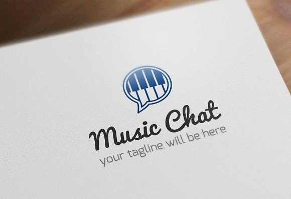 Music Chat Logo Template by Made by Arslan on @creativemarket