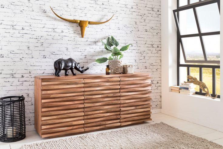 Wohnling Sideboard WL5.200 In Akazie Massivholz #Wohnzimmer #Dekoration  #Wohnidee #Gästezimmer