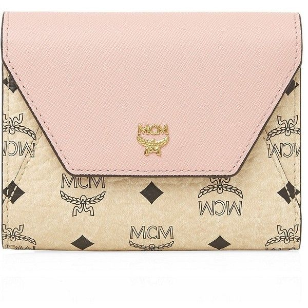 MCM Visetos Love Letter Wallet ($215) ❤ liked on Polyvore featuring bags, wallets, zippered coin pouch, change purse, mcm bags, mcm and zip wallet