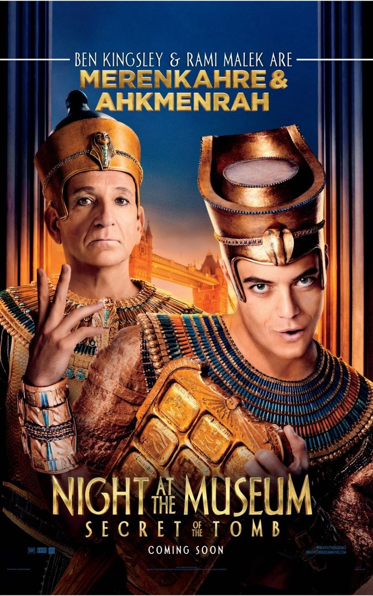"""""""Night at the Museum: The Secret of the Tomb"""" - Security guard Larry (Ben Stiller) spans the globe, uniting favorite and new characters while embarking on an epic quest to save the magic before it is gone forever. Info and image credit: IMDb."""
