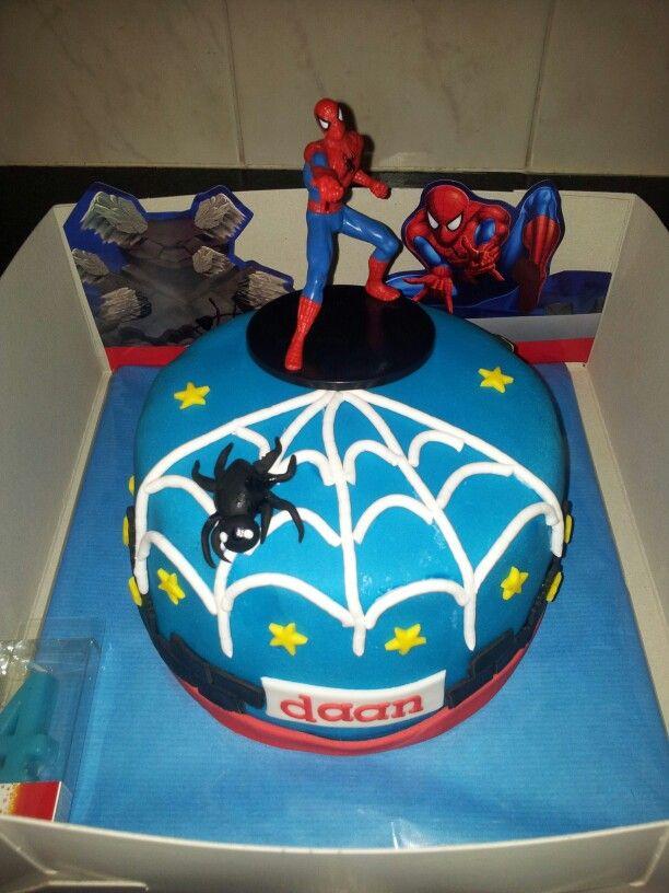 Spiderman taart
