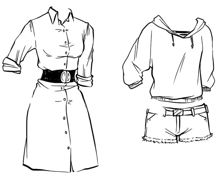 how to draw clothes for girls - photo #21