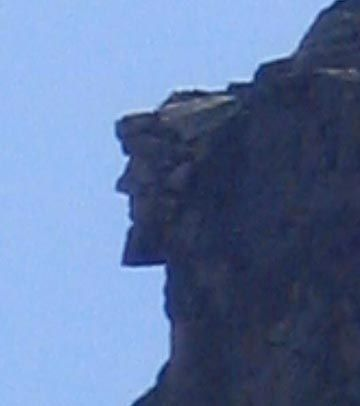 Saw this Old Man of the Mountain in New Hamshire.