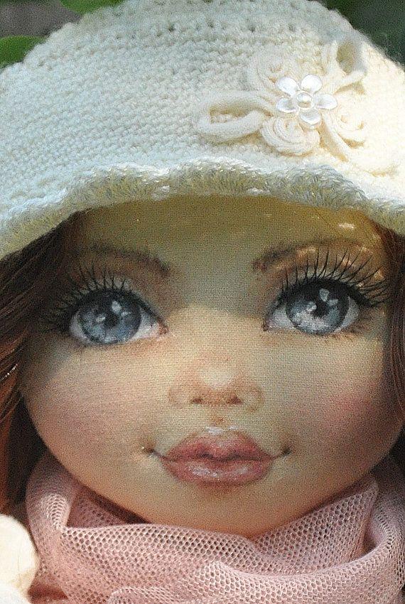 Poupée de textile, poupée décorative, poupées collector, coton de poupée, poupée de chiffon, poupée d'art