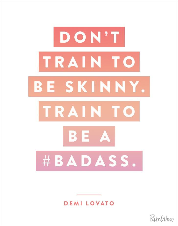 10 Celebrity Workout Quotes to Inspire Your Next Sweat Sesh via @PureWow
