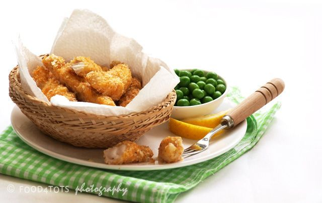 Oven baked fish fingers - I do this with chicken, need to remember to do it with fish sometime