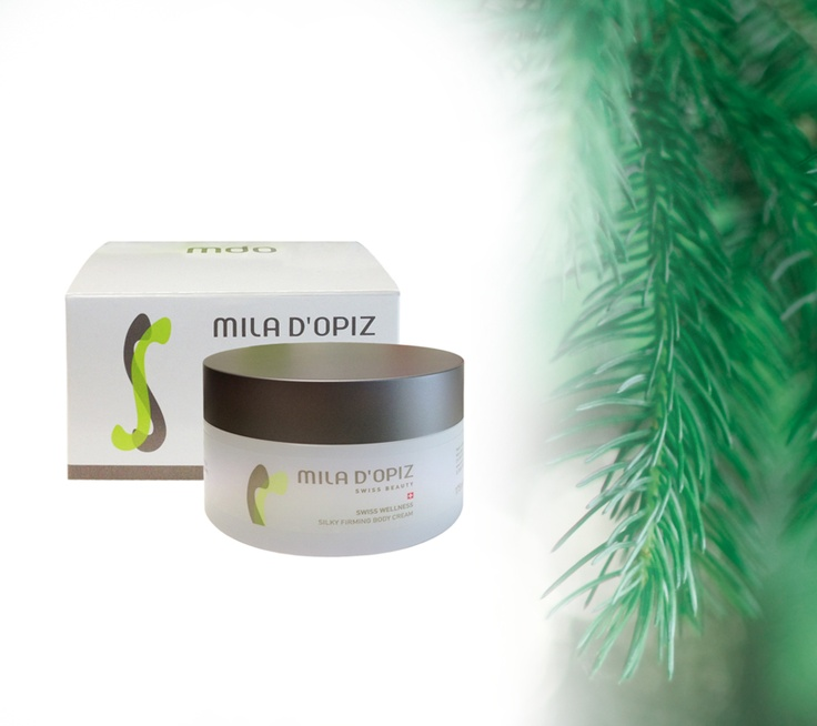 Mila d'Opiz - Swiss Wellness Silky Firming Body Cream. Accelerates the skin regeneration and helps prevent premature skin aging. Soothing, healing and skin brightening effects.