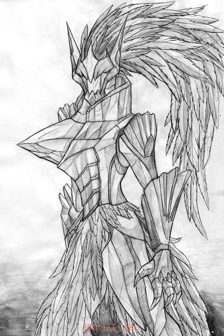 'Fiuriel, Sera Justiciar', pencil, water-soluble graphite. www.primalarc.com