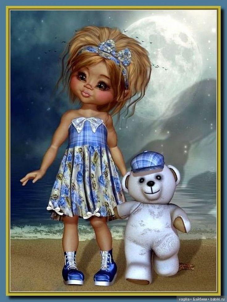 Мая ретро, прикольные куклы в рисунках