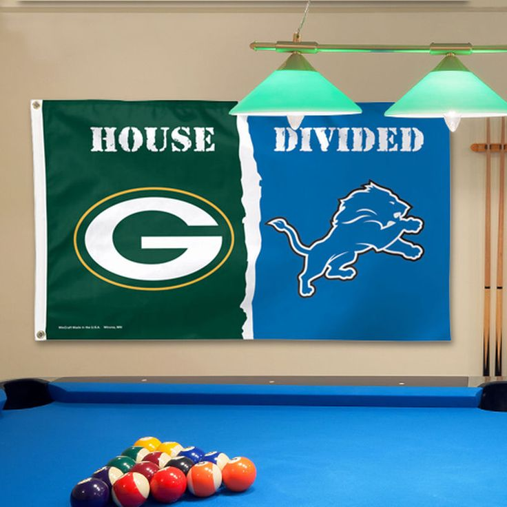 Green Bay Packers vs. Detroit Lions WinCraft Deluxe 3' x 5' House Divided Flag