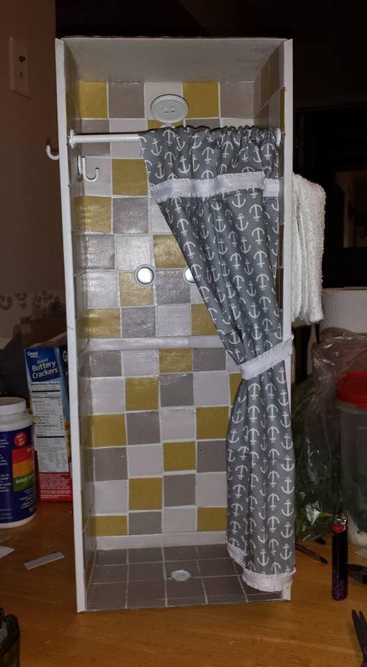 American girl dollhouse DIY shower