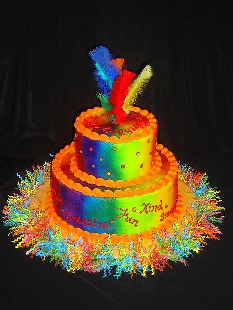 Tie Dye Birthday Cake Cakes Cupcakes Birthday Cake