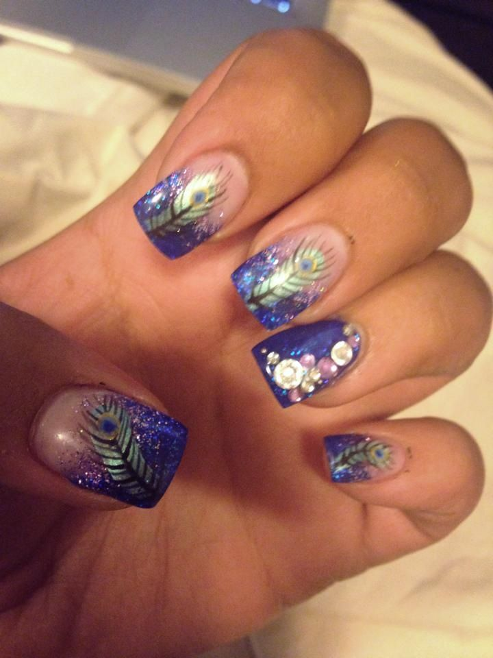 1000 ideas about peacock nails on pinterest peacock