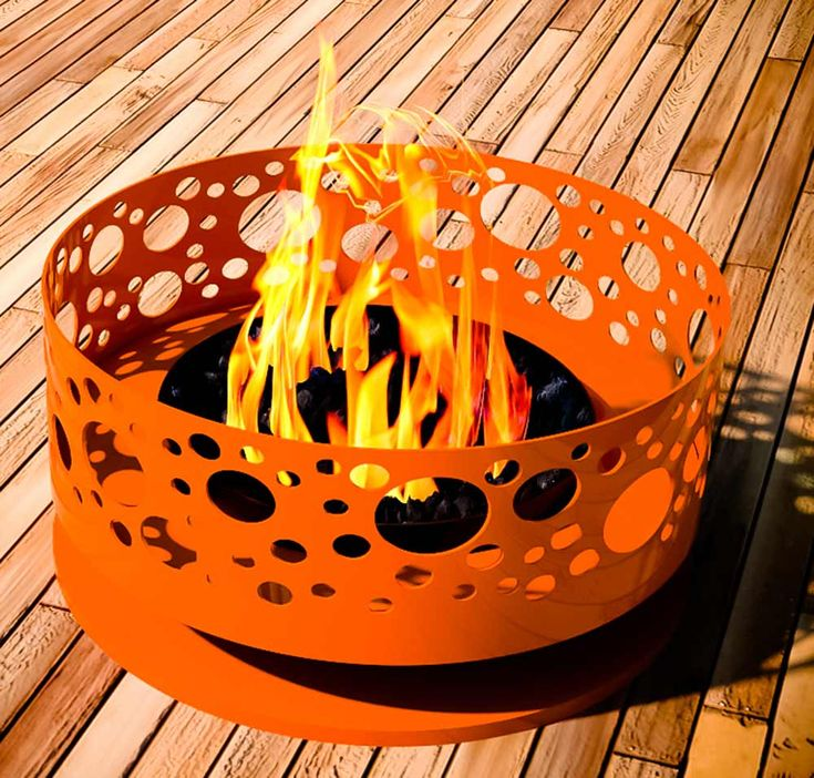 Modfire   Midcentury Modern Style Fire Pits Hand Made In The USA