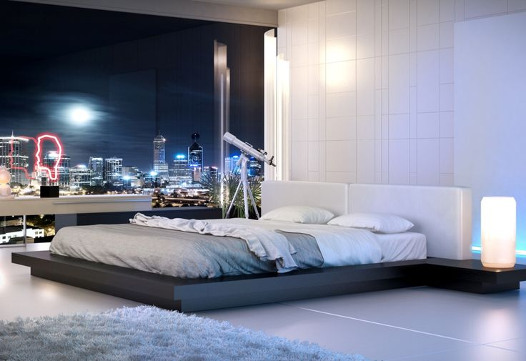 Love the lamps and telescope. The bed frame keeps the mattress in place. Latest-Alaskan-King-Bed.jpg (1024×703)