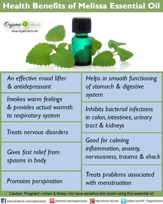 Benefits of Melissa oil