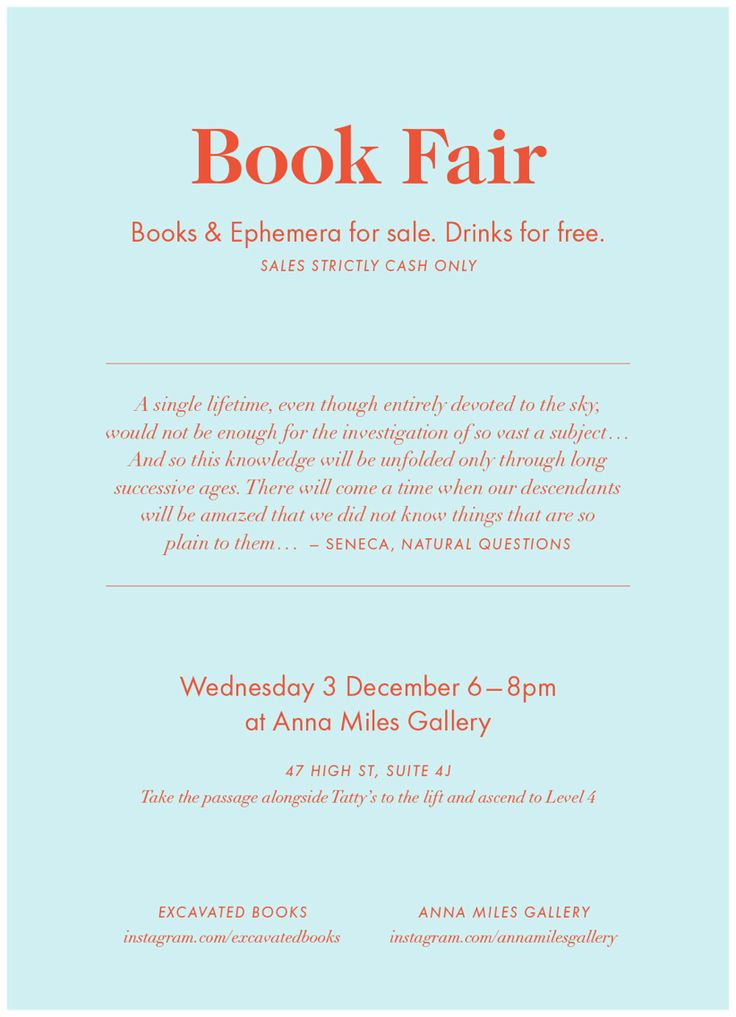 Book Fair at the Gallery, Wednesday 3 December 6-8pm