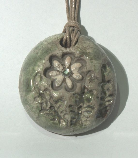 110 best raku pendants images on pinterest ceramic art ceramics floral green raku pendant di raroearth su etsy aloadofball