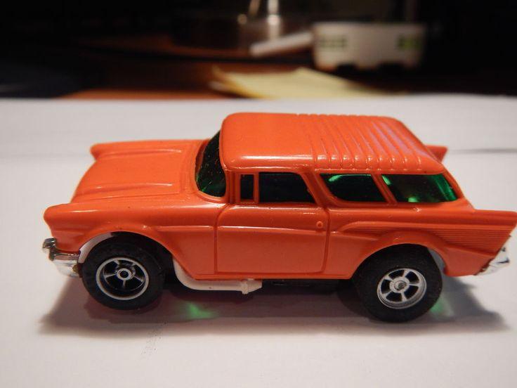 Vintage Aurora AFX Magna-Traction 57 Chevy Nomad (Orange) # 1903 Slot Car #AFX #ShopTheWorld