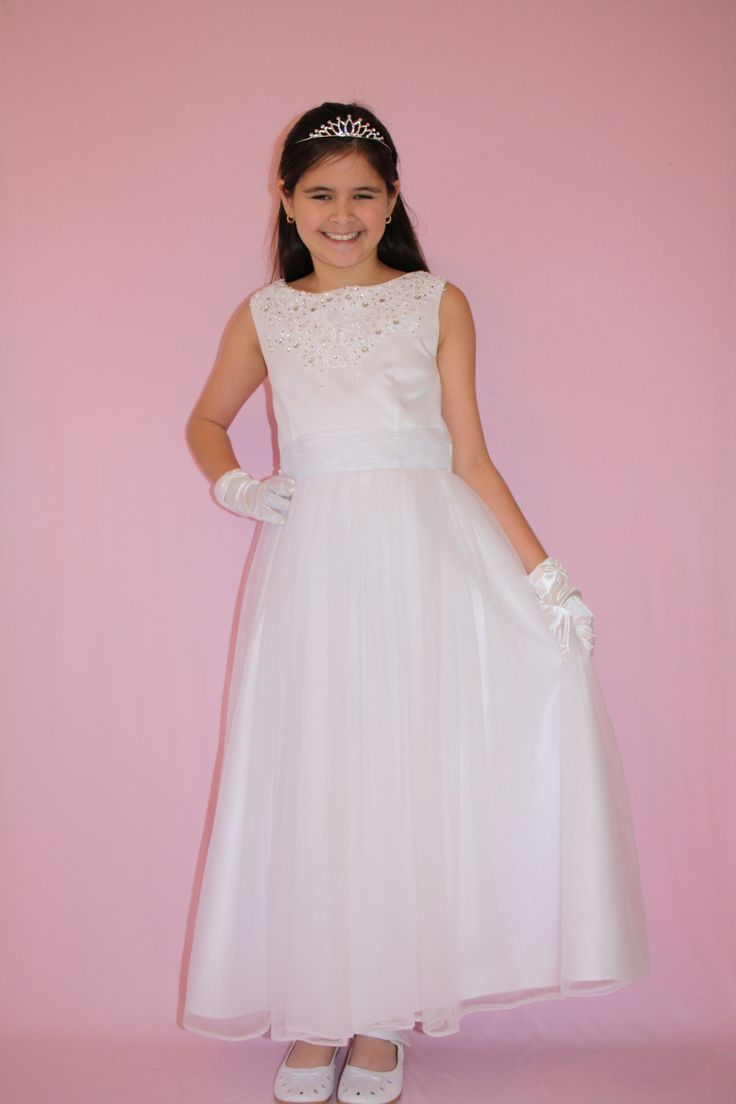 Beautiful Satin and Tulle First Communion/Flower Girl Dress. $65 https://silknsatincommuniondresses.com.au/product/princess/