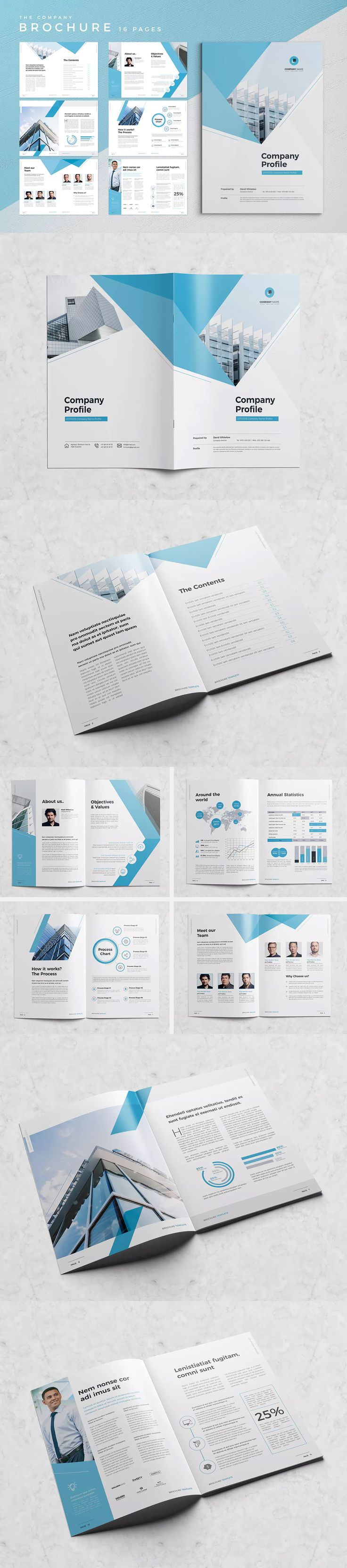 Minimal Company Profile 16 Pages  InDesign INDD A4