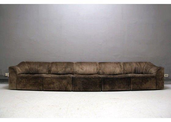 Ds 10 modulares sofa aus leder von de sede 1980er for Couch 0 interest