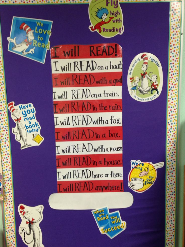 Dr seuss bulletin board i can read poem school dr for I can bulletin board ideas