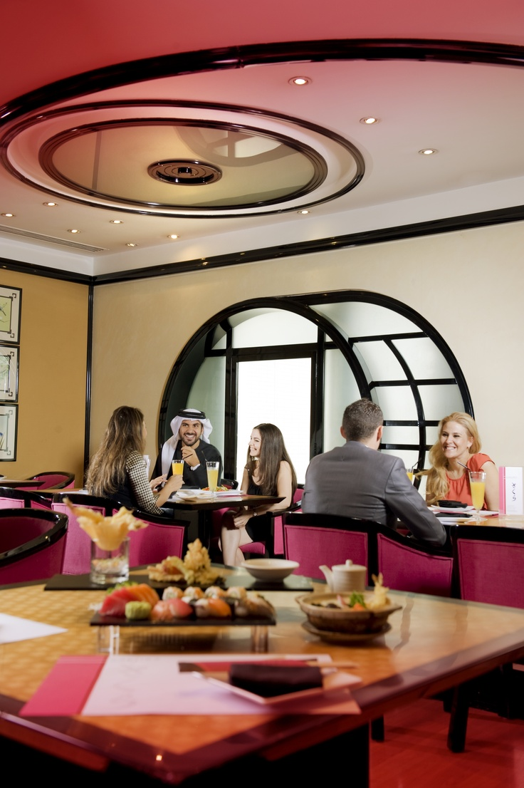 Sakura Japanese Restaurant at the Crown Plaza Dubai offers private tatami rooms for you & your friends or family