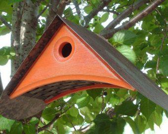 Unique Birdhouse Modern Bird House Outdoor Birdhouses Cedar