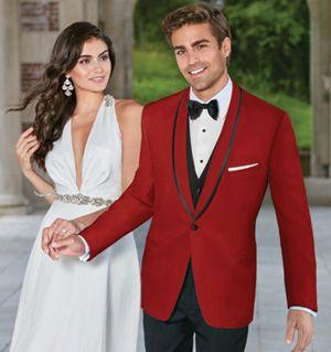 Collins Formal Wear - One button shawl (red)  http://www.collinsformalwear.com/catalogue.html