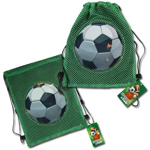 BESTSELLER! (12 Count) SOCCER Sling Party Favor Goodie Bag - Favors - ALL QUANTITIES AVAILABLE! $13.99
