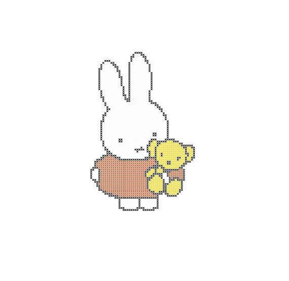 Miffy Cross Stitch Pattern PDF Instant Download by LivCreatively