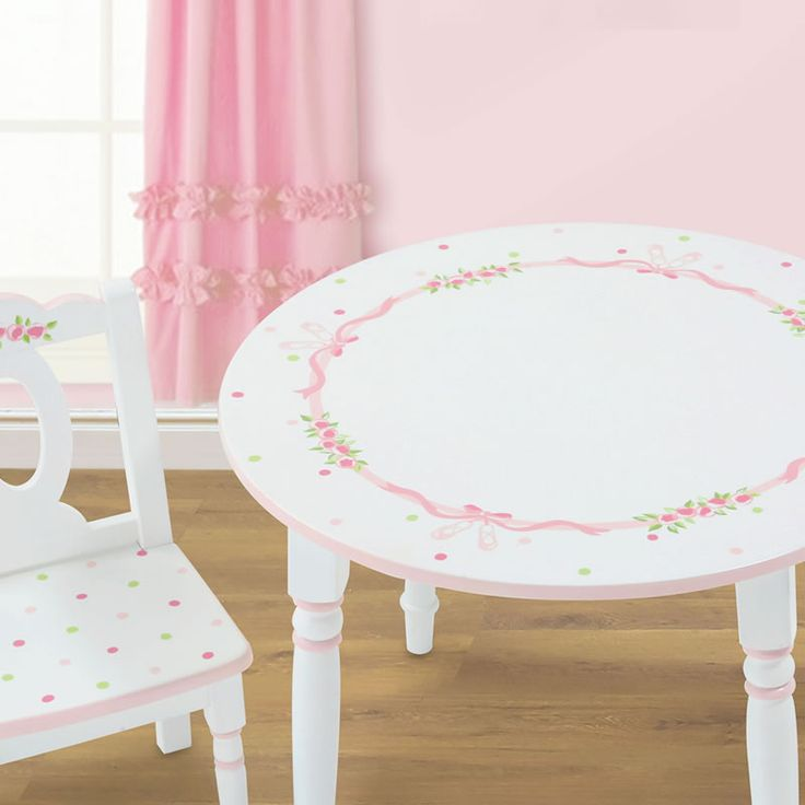 handpainted table chairs for little girls ballet hand painted girl 39 s table set fun for. Black Bedroom Furniture Sets. Home Design Ideas