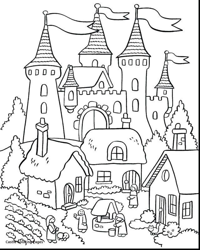Colouring Pages Princess Castle
