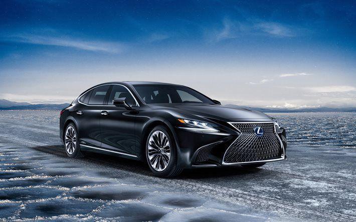 Download Wallpapers Lexus Ls 500h 2018 4k Luxury Car Black Ls
