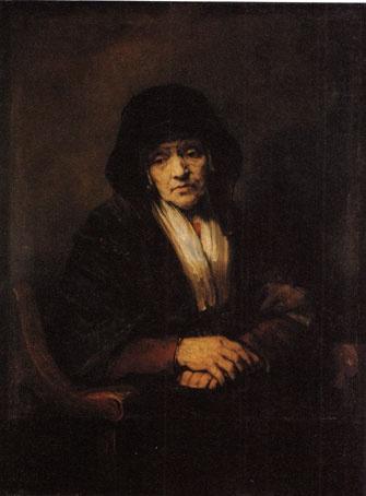 レンブラント・ファン・レイン作「老婦人の肖像」